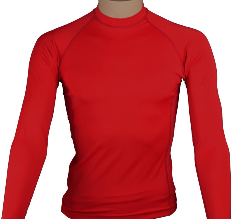 lycra personnalisable rouge manches longues