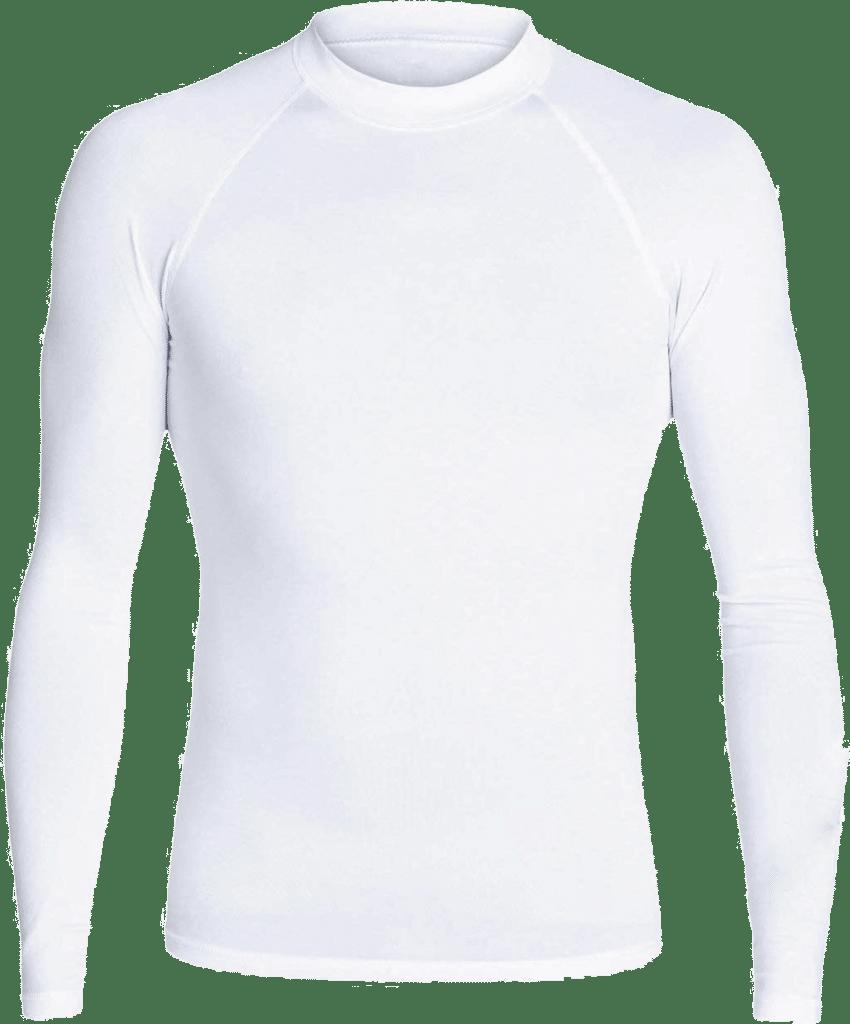 lycra personnalisable blanc manches longues