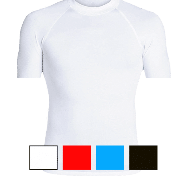 lycra anti UV anti méduses manches courtes personnalisable UPF80 - barbadiving.